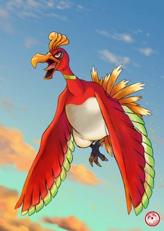 #250 Ho-Oh by TheFresco