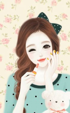 Enakei shared by 𝐆𝐄𝐘𝐀 𝐒𝐇𝐕𝐄𝐂𝐎𝐕𝐀 👣 on We Heart It Cute Kawaii Girl, Cute Cartoon Girl, Anime Korea, Korean Illustration, Girly M, Lovely Girl Image, Korean Art, Korean Anime, Cute Girl Wallpaper
