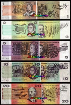 Australia banknotes - Australia paper money catalog and Australian currency history Old Coins, Rare Coins, Australian Money, Australian Vintage, Blue Mountains Australia, Money Notes, Coins Worth Money, Dollar Money, Valuable Coins