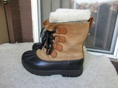 Sorel caribou women boots 6 Brown Leather  #Solrel #SnowWinterBoots #Casual