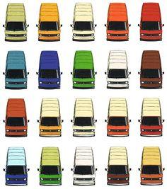 VW T3 lakkleuren