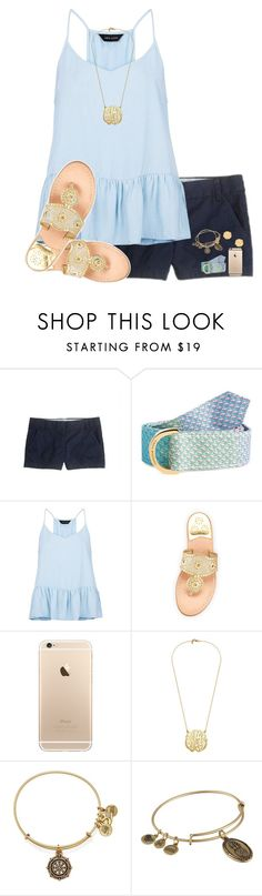 """RTD"" by evedriggers ❤ liked on Polyvore featuring J.Crew, Vineyard Vines, New Look, Jack Rogers, Alex and Ani and BaubleBar"
