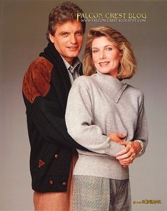 "David Selby and Susan Sullivan, ""Falcon Crest"""