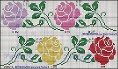 Resultado de imagem para graficos ponto cruz flores azuis