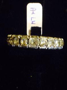 Anello in argento 800 e oro 14 Kt e brillanti