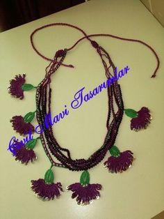 Love Crochet, Bead Crochet, Crochet Necklace, Beaded Necklace, Beaded Lace, Beaded Jewelry, Handmade Jewelry, Purple Carnations, Woven Bracelets