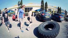 Everyday Athlete May 2016 MPC Challenge Tyre Flip - Sam flipping - GIF by Marvel & Whimsy