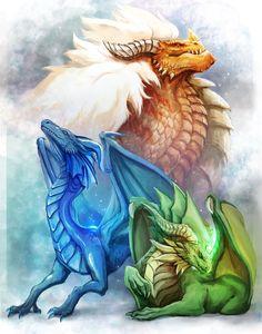 """lovebonbe: """" Dragon Gems. night & light :) """""""