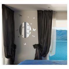 Nástenné ozdobné zrkadlo s motýľmi Curtains, Home Decor, Blinds, Decoration Home, Room Decor, Draping, Home Interior Design, Picture Window Treatments, Home Decoration