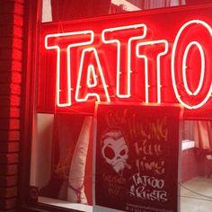 Shop Interiors, Tattoo Shop, Tattoo Artists, Positivity, Neon Signs, Tattoos, Shopping, Instagram, Tatuajes