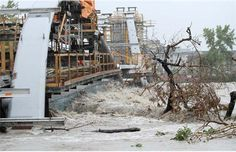 The raging Bow River pushes trees against St. Patrick's Bridge in Calgary, Alberta on June Photograph by: Leah Hennel, Calgary Herald O Canada, Alberta Canada, Dramatic Photos, Tornados, Calgary, Mother Nature, Lightning, The Good Place, Weather