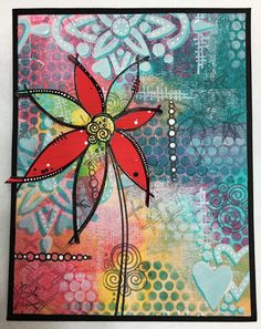 PaperArtsy: NEW from PaperArtsy Eclectica³ Tracy Scott Jan 2017 Mixed Media Journal, Mixed Media Canvas, Mixed Media Art, Tracy Scott, Paper Art, Paper Crafts, Art Journal Pages, Art Journaling, Gelli Plate Printing
