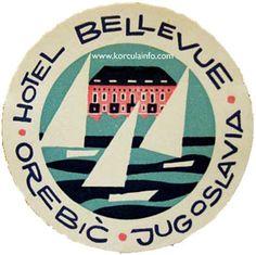 Hotel Bellevue, Orebic, Jugoslavia.