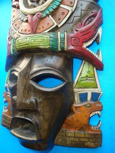 Mayan God Wood Mask Maya Civilization, Spanish Art, Mesoamerican, Masks Art, Wooden Art, Mexican Folk Art, Religious Art, Cool Artwork, Archaeology