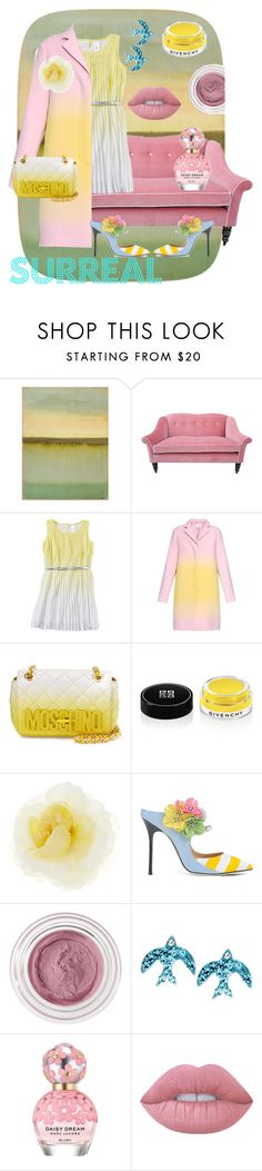 """ombre surreal"" by petra-klimova ❤ liked on Polyvore featuring John-Richard, Kim Salmela, Jonathan Saunders, Moschino, Givenchy, Gucci, Giannico, Betsey Johnson, Marc Jacobs and Lime Crime"