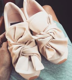These Blush Bows #sneakers #fashion