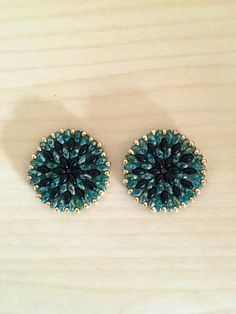 Hey, I found this really awesome Etsy listing at https://www.etsy.com/uk/listing/485471147/circle-beaded-earrings-medium