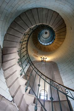 Interior of The Lighthouse - Ploumanach, Perros-Guirec, Brittany, France