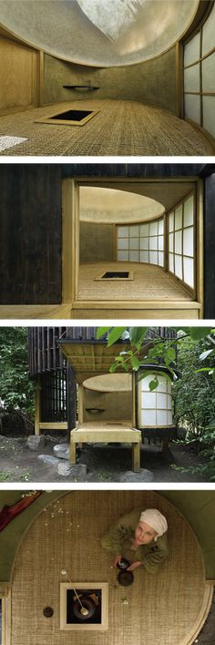"""Teahouse in the garden , Japanese architecture """"茶室"""" in Czech"""