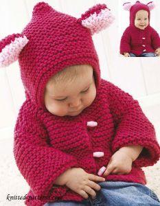 Baby jacket knitting pattern free  SIZES 6 (12:18) months