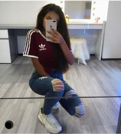 The Effective Pictures We Offer You About adidas outfit tenis A quality picture can tell you many th Teenage Outfits, Cute Outfits For School, Sporty Outfits, Teen Fashion Outfits, Swag Outfits, Cute Casual Outfits, Tumblr Outfits, Outfits For Teens, Trendy Fashion