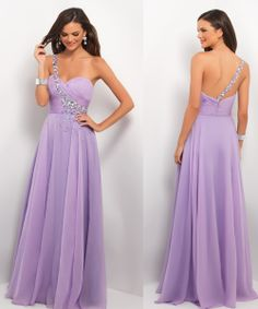 Lavender/sky blue Sex Prom dresses sweatheart by Lemonweddingdress, $145.00