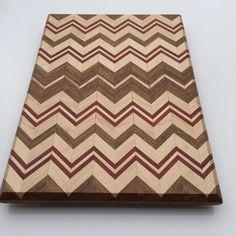 Handmade chevron cutting board by OCGWoodshop on Etsy https://www.etsy.com/listing/221815225/handmade-chevron-cutting-board