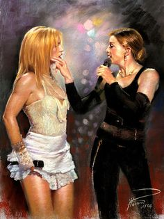 MADONNA AND BRITNEY SPEARS DRAWING