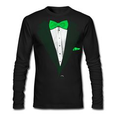 Spreadshirt Men's St Patrick's Day Tuxedo T-Shirt, black, L