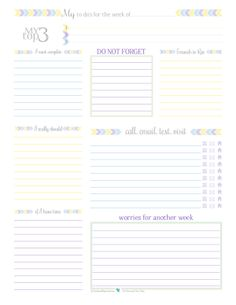 Free Printable Weekly To Do List; Keep track of all you need to do on one handy sheet. Great to use on its own or in conjunction with a planner. | ScatteredSquirrel.com
