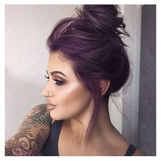 Purple hair ❤ liked on Polyvore featuring accessories, hair accessories and purple hair accessories