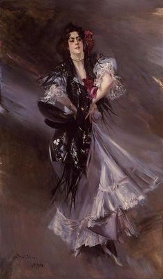 Giovanni Boldini (1842-1931) Portrait of Anita de la Ferie, 'The Spanish Dancer' Oil on canvas 1900 Public collection