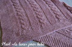 Blog laine tricot crochet | Planète Laine: Modèle gratuit: Plaid bébé en Alpaga et Muze de Plassard