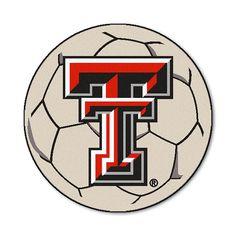 Texas Tech Red Raiders NCAA Soccer Ball Round Floor Mat (29)