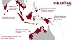 Majapahit Kingdom factual. Indonesia history.