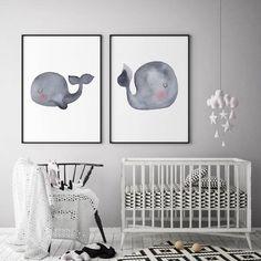 Ideas for baby nursery ocean whale art Whale Nursery, Ocean Nursery, Nursery Canvas, Baby Whale, Yellow Nursery, Nursery Art, Nursery Decor, Coastal Nursery, Nautical Nursery