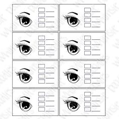 Practice Sheet for Coloring Eyes - Thanks to Whimsie Doodles Stamps