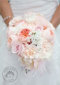 June colors, subtle pinks and whites give a spring time feel