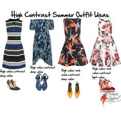 How to create summer outfits with high value contrast - click to read all about it and get expert tips