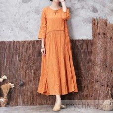 yellow fall linen dresses plus size casual long sleeve maxi dressMost of our dresses are made of cotton linen fabric, soft and breathy. loose dresses to make you comfortable all the time. Makes you look slimmer and ma Linen Dresses, Loose Dresses, Long Sleeve Maxi, Short Sleeve Dresses, Cotton Linen, Linen Fabric, Gypsy Style, My Style, Plus Size Casual