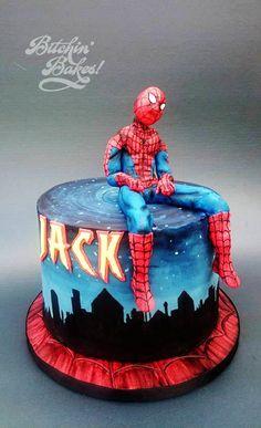 Spiderman, spiderman! - Cake by Sharon Fitzgerald @ Bitchin' Bakes