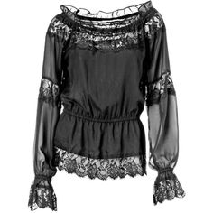 Blouse — bei heine.de ($67) ❤ liked on Polyvore featuring tops, blouses, shirts, long sleeves, extra long sleeve shirts, long sleeve blouse, shirt blouse, long sleeve shirts and shirt tops