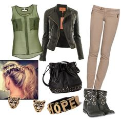 """""""military look"""" by dzinno on Polyvore"""