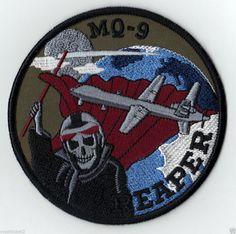 USAF MQ-9 REAPER PREDATOR B MISSILE ATTACK DRONE UAV DOD MILITARY PATCH