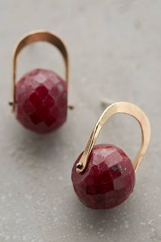 Maple Ruby Earrings
