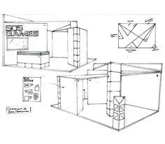 stand for expos design sketch - Buscar con Google