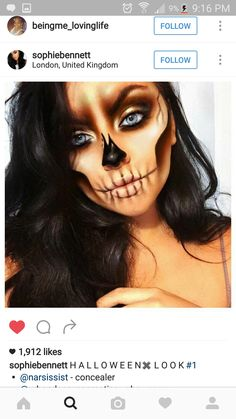 17 Creative Face Painting Ideas for Halloween and Birthdays Halloween Inspo, Halloween Makeup Looks, Halloween Costumes, Halloween Skull Makeup, Face Paint For Halloween, Facepaint Halloween, Beautiful Halloween Makeup, Sfx Makeup, Costume Makeup