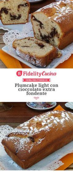 Plumcake light con cioccolato extra fondente