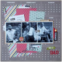 """Layout shared with us by Brenda Ragsdale using our 24/Seven collection -  Scrap Our Stash Challenge: """"You Are An Awesome 24/7 Dad"""" Layout by DT Brenda"""