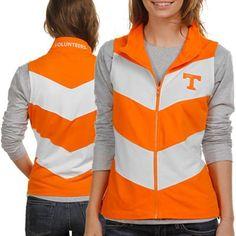 Tennessee Volunteers Ladies Tennessee Orange-White Chevron Full Zip Vest